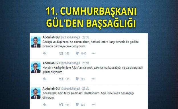11. Cumhurbaşkanı Gül'den Başsağlığı
