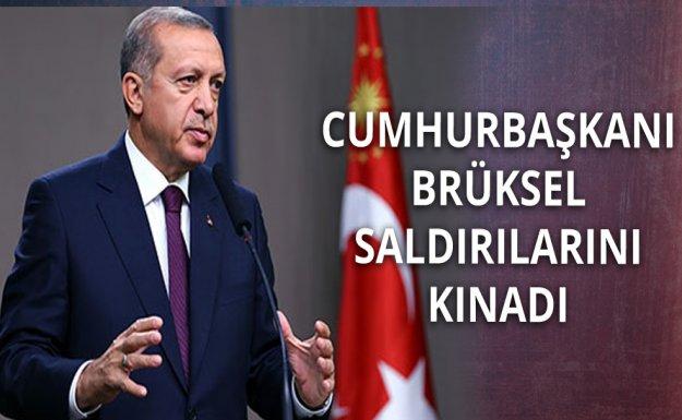Cumhurbaşkanı Erdoğan'dan Brüksel Saldırısına Kınama