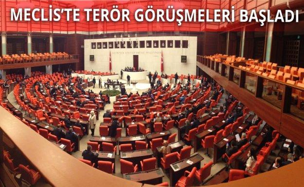 Mecliste Terör Toplantısı Başladı