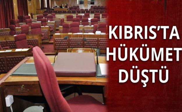 Kıbrıs'ta Hükümet Düştü