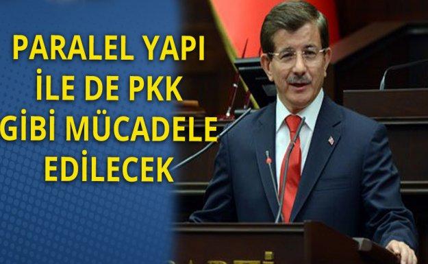 Davutoğlu: Paralel Yapının PKK'dan Bir Farkı Yok