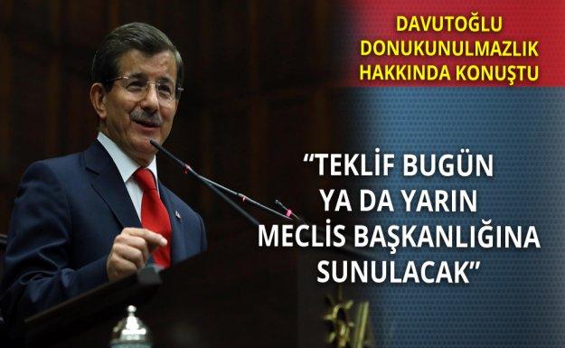 Başbakan Davutoğlu Anayasa Ve Dokunulmazlıklar İle İlgili Konuştu