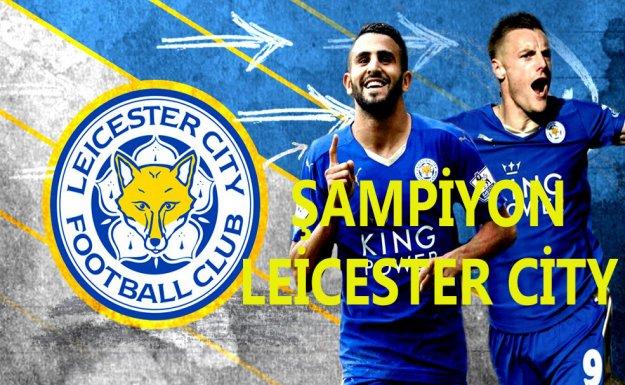 İngiltere'de Şampiyon Leicester City