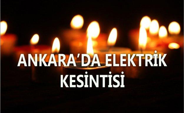 Ankara Ve Karabükte Elektrik Kesintisi