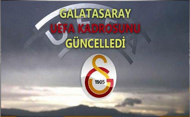 Galatasaray UEFA Kadrosunu Güncelledi