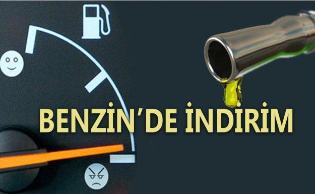 Benzin'de 7 Kuruş İndirim