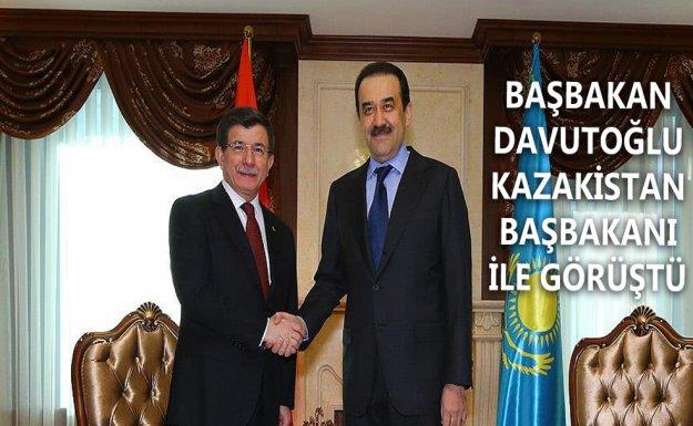 Başbakan Davutoğlu Kazak Mevkidaşı ile Görüştü