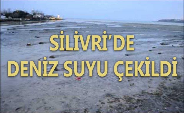 Silivri'de Deniz Suyu Yaklaşık 80 Metre Çekildi