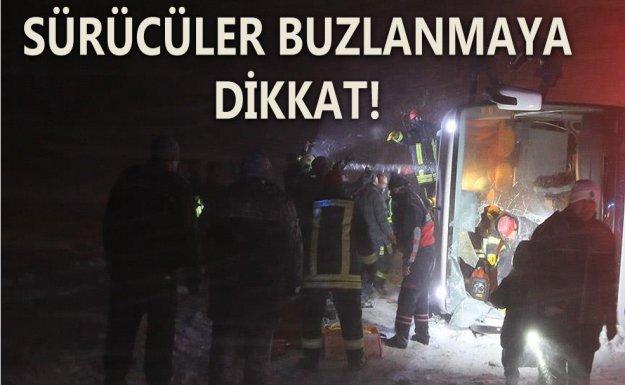 Kayseri'de Aynı Bölgede 2 Yolcu Otobüsü Devrildi : 69 Yaralı