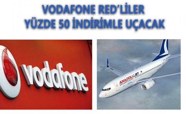 Vodafone Red liler Yüzde 50 İnidirimli Uçacak