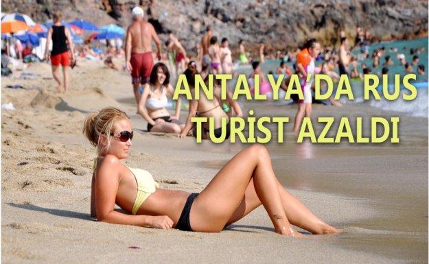 Antalya'ya Gelen Turist Sayısı yüzde 81 Azaldı