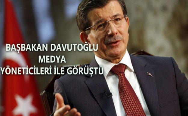 Başbakan Davutoğlu Medya Yöneticileri İle Görüştü