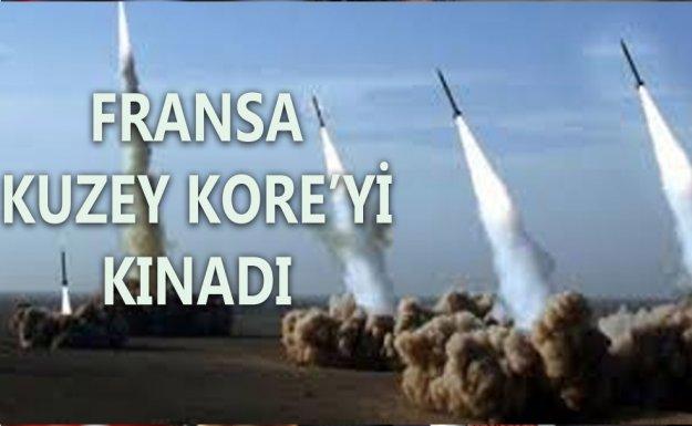 Fransa Kuzey Kore'nin uzun menzilli füze fırlatmasını Kınadı