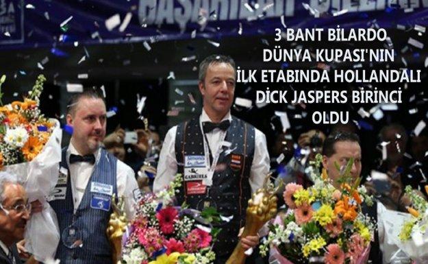 3 Bant Bilardo Dünya Kupası'nın ilk etabında, Dick Jaspers Birinci Oldu