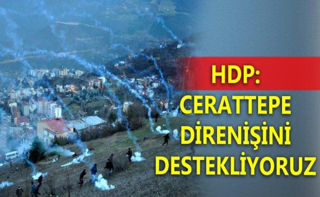 HDP: Cerattepe Direnişini Destekliyoruz