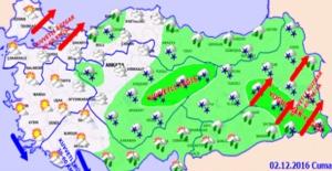 İç Ve Doğu Anadolu'da Yoğun Kar Yağışı Uyarısı