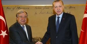 Cumhurbaşkanı Erdoğan, BM Genel Sekreteri Guterres'i Kabul Etti