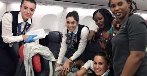 Türk Hava Yolları Uçağında Süpriz Yolcu