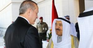 Cumhurbaşkanı Erdoğan Kuveyt Emiri El-Sabah İle Görüştü