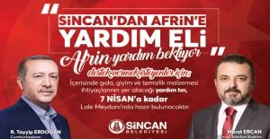 Sincan'dan Afrin'e Yardım Eli
