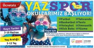 Ataşehir'de Yaz Spor Okulları Başlıyor