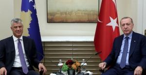 Cumhurbaşkanı Erdoğan, Kosova Cumhurbaşkanı Thaçi İle Görüştü