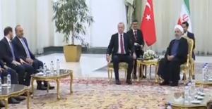 Cumhurbaşkanı Erdoğan Üçlü Zirve Öncesi Ruhani İle Görüştü