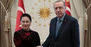 Cumhurbaşkanı Erdoğan, Vietnam Ulusal Meclis Başkanı Ngan'ı Kabul Etti
