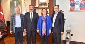 CHP Adana Milletvekilleri Başkan Soner Çetin'i Ziyaret Etti