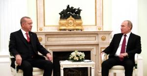 Cumhurbaşkanı Erdoğan İle Rusya Devlet Başkanı Putin'in Görüşmesi Sona Erdi