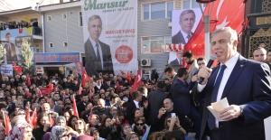 Mansur Yavaş Kahramankazan'da Seçim Bürosu Açılışına Katıldı