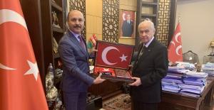 Türk Eğitim-Sen Genel Başkanı Geylan'dan MHP Genel Başkanı Bahçeli'ye Tebrik Ziyareti