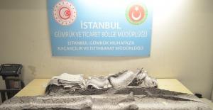 İstanbul'da Nadir Bulunan 23 Adet Yilan Derisi Ele Geçirildi
