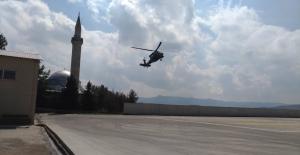 Baraj İnşaatında Yaralanan İşçi Askeri Helikopter İle Hastaneye Ulaştırıldı