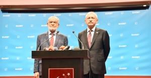 Kılıçdaroğlu'ndan Karamollaoğlu'na Taziye Ziyareti