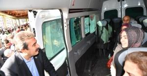 Başkan Çetin'e Servis Teşekkürü