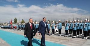 Bosna-Hersek Devlet Başkanlığı Konseyi Üyeleri Cumhurbaşkanlığı Külliyesinde