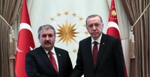 Cumhurbaşkanı Erdoğan BBP Genel Başkanı Destici'yi Kabul Etti