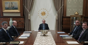 Cumhurbaşkanı Erdoğan, İçişleri Bakanı Soylu Ve Kültür Ve Turizm Bakanı Ersoy'u Kabul Etti
