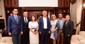 Portekiz'in Ankara Büyükelçisinden  Başkan Zeydan Karalar'a Ziyaret