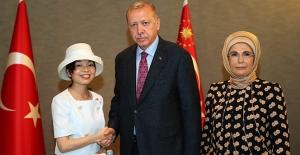 Cumhurbaşkanı Erdoğan, Altes Prenses Akiko Mikasa İle Görüştü
