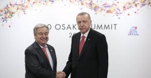 Cumhurbaşkanı Erdoğan, Birleşmiş Milletler Genel Sekreteri Guterres İle Görüştü