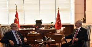 CHP Genel Başkanı Kılıçdaroğlu, SP Genel Başkanı Karamollaoğlu İle Bir Araya Geldi