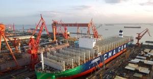 Dünyanın LNG İle Çalışan İlk Konteyner Gemisi Suya İndi