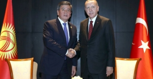 Cumhurbaşkanı Erdoğan, Kırgızistan Cumhurbaşkanı Ceenbekov İle Bir Araya Geldi