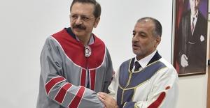 İskenderun Teknik Üniversitesi'nden TOBB Başkanı Hisarcıklıoğlu'na Fahri Doktora