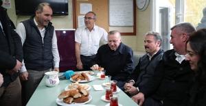 Cumhurbaşkanı Erdoğan, Ankara Bayındır Taksi Durağı'nı Ziyaret Etti