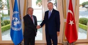Cumhurbaşkanı Erdoğan, BM Genel Sekreteri Guterres İle Görüştü