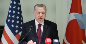 Cumhurbaşkanı Erdoğan, Diyanet Amerika Merkezi'nde Türk-Amerikan Toplumu İle Bir Araya Geldi