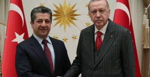 Cumhurbaşkanı Erdoğan, IKBY Başbakanı Barzani'yi Kabul Etti